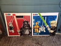 Star Wars lego canvases