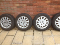 Ford Alloy wheels with tyres