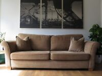 Sand Checked Chenille HOUSE OF FRASER 4 Seater Sofa