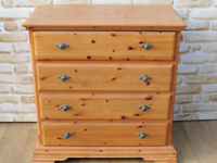 Beautiful chest of drawers Schreiber solid pine wood (Delivery)