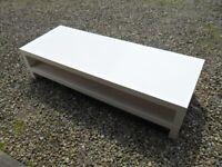 IKEA White coffee table with shelf