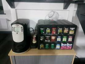 Flavia Creation 400 Drinks Machine with stock and cups