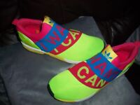 Adidas Bright Sonar Green Torsion ZX Flux Rare Slip On Trainers/Gym Running Shoes Size UK 8.5