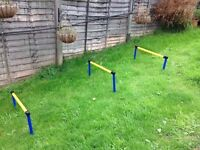 2 Dog hurdles and agility tunnel brand new never used
