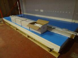 White PVC Hygienic wall cladding, Professional grade solid pvc sheets. superb whiterock alternative