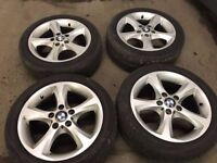 17'' GENUINE BMW 1 SERIES E88 ALLOY WHEELS TYRES 5X120 VIVARO TRAFIC