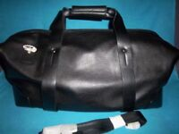 New Cerruti 1881 Black Weekend / Overnight Bag IP1