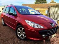 PAN ROOF! (2006) PEUGEOT 307 1.6 HDI (90) SW S ESTATE/ PANORAMIC ROOF / 12 MONTHS MOT