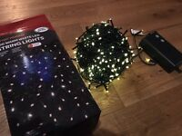 50m of warm white battery powered string / fairy lights. Wedding / Party / Christmas