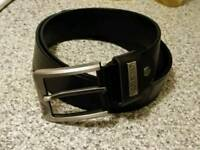 Armani designer leather belt men