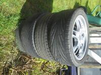 """x4 17"""" Wolfrace Alloy Wheels"""