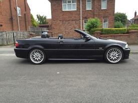 BMW 325 ci m sport convertible 77,700 miles black 3 series