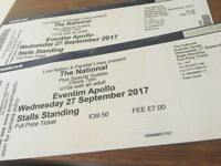 2 tickets for The National - Wednesday