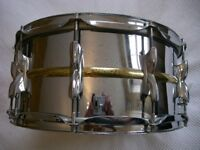 """Premier Model 21 beaded brass snare drum 14 x 6 1/2"""" - '80s - Leicester - Ludwig 402 homage"""