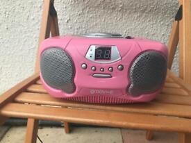 Pink radio/CD Player