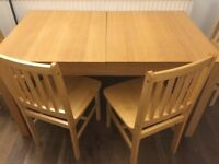 Strong Kitchen table IKEA with 2/4 chairs