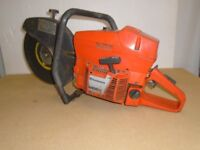 """PETROL DISC CUTTER HUSQVARNA WITH 12"""" METAL CUTTING DISC USED GOOD CONDITION"""