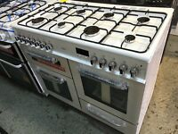New Graded Bush 100cm Duel Fuel Range Cooker - White