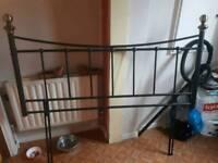 Metal frame headboard