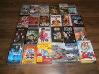50 DVDs and VHS Tapes