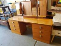 Large 3 mirror dressing table with drawers