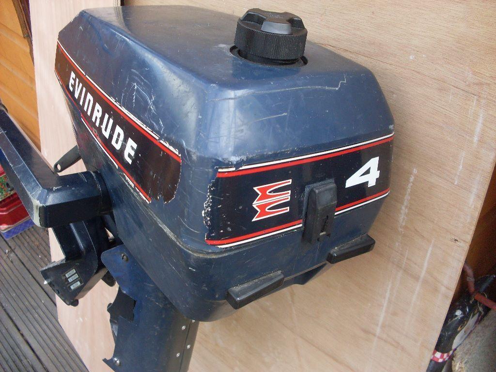 Evinrude 4 HP outboard motor.