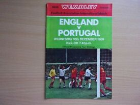 ENGLAND VS. PORTUGAL. 1969 INTERNATIONAL FOOTBALL PROGRAMME.