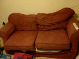 FREE Two seater red sofa