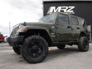 2015 Jeep Wrangler Unlimited Sahara Cuir GPS - Lift kit FOX - Ma