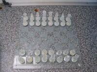 Glass Chess Set 38/6/16
