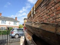 TWO VINTAGE 17FT ,, ESKIMO,, TYPE CANOES FOR RESTERATION