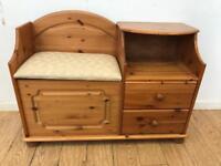Pine hall seat / telephone table