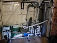 gym 100kg metal weight stack rare..