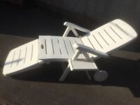 Garden Sun Lounger with Tray