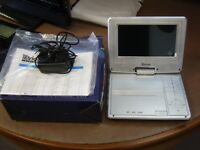 Tevion 7 Inch Portable LCD DVD CD Player. Looks Unused