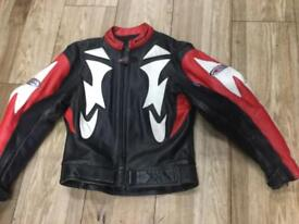 Ladies Size 16 Leather bike jacket from Riossi retails £249