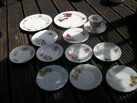 Odd Lot of Crockery, Plates, Saucers and Cup