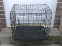 DOG CAGE SMALL WITH METAL TRAY £18