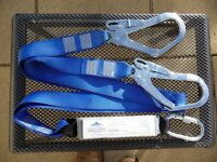Double Hook Safety Lanyard with Shock Absorber