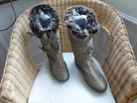 LADIES FUR LINED BOOTS