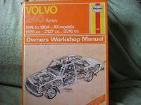HAYNES CAR MANUAL VOLVO 240 SERIES 1974 - 1984