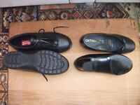 TWO PAIRS OF SHOES NEVER BEEN WORN, SIZE FOUR