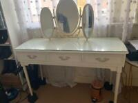 White dresser with mirror & drawers