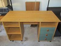 Computer desk- light wood