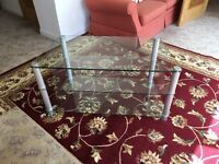 TV stand - clear glass 3 tier