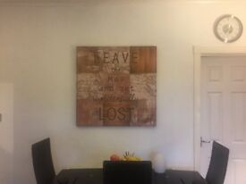 Canvas Art - Map With Quote