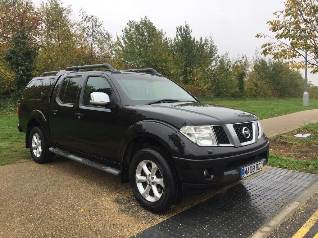 2008 NISSAN NAVARA LONGWAYDOWN 2.5 DCI AUTOMATIC BLACK SAT NAV LEATHER WARRANTY PART EXCHANGE WELC