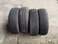 4x 175 65 14 Michelin used tyres, matching pairs