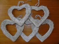 Hanging heart wedding decorations