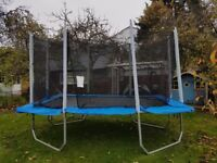 AIRKING 8X12FT RECTANGULAR TRAMPOLINE WITH SAFETY ENCLOSURE